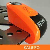 Замок на диск KOVIX KAL6 FO Fluorescent Orange