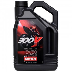 Масло моторное 4Т Motul 300V Factory Line Road Racing 15W50 4L синтетика