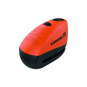 Замок с сигнализацией на диск Oxford ScreamerXA7 Alarm Disc Lock Orange/Matt Black