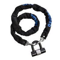 Замок с цепью Oxford HD Chain lock 1.5m, Black -OF159