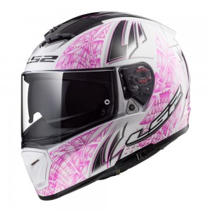 Шлем интеграл LS2 FF390 BREAKER RUMBLE WHITE PINK