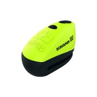 Замок с сигнализацией на диск Oxford ScreamerXA7 Alarm Disc Lock Yellow/Matt Black