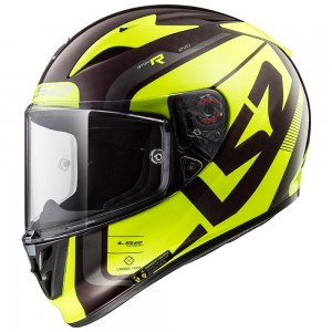 Шлем интеграл LS2 FF323 ARROW C EVO CARBON STING WINEBERRY HI-VIS YELLOW