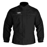 Куртка дождевик Oxford Rainseal Over Jacket Black/Green Fluo RM100L