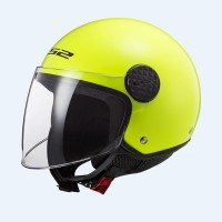 Шлем полулицевик LS2 OF558 SPHERE GLOSS HI-VIS YELLOW