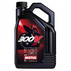 Масло моторное 4Т Motul 300V Factory Line Road Racing 5W30 4L синтетика
