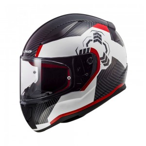 Шлем интеграл LS2 FF353 Rapid Ghost White Black Red