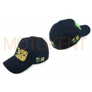 "Бейсболка ""46 VALENTINO ROSSI AND MONSTER ENERGY"" (черная)"