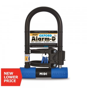 Замок с сигнализацией для скутера мотоцикла Oxford Alarm-D Midi High Security