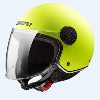 Шлем полулицевик LS2 OF558 SPHERE LUX MATT HI-VIS YELLOW