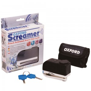 Замок на диск с сигнализацией Oxford SCREAMER  Disc alarm Lock Chrome