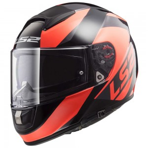 Шлем интеграл LS2 FF397 VECTOR FT2 WAVY BLACK FLUO ORANGE