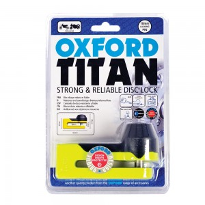Замок на диск (без сигнализации) Oxford TITAN Yellow - Желтый
