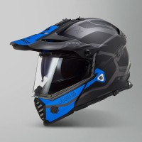 Шлем эндуро LS2 MX436 Pioneer Evo Cobra Matt Black Blue