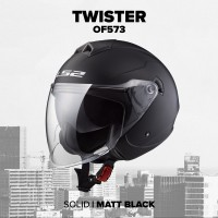 Шлем полулицевик LS2 OF573 TWISTER SINGLE MONO MATT BLACK