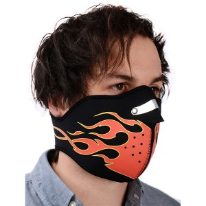 Маска для лица Oxford Mask - Flame/Glow Skull NW501